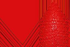 Grâce de la géométrie - en rouge. Photo libre de droits