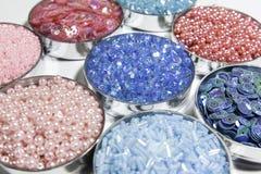 Grânulo azul e cor-de-rosa foto de stock