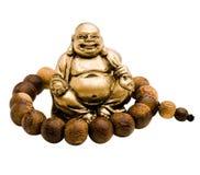 Grânulo de oração em torno de rir buddha fotos de stock royalty free