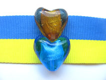 Grânulos & bandeira ucranianos Imagens de Stock Royalty Free