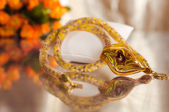Grânulos, beadworks em um colorido, acessórios Imagem de Stock Royalty Free