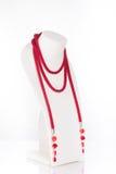 Grânulos, beadworks no branco Fotos de Stock