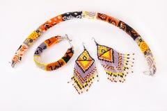 Grânulos, beadworks no branco Foto de Stock Royalty Free