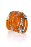 Grânulos, beadworks no branco Fotos de Stock Royalty Free