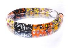 Grânulos, beadworks no branco Imagens de Stock Royalty Free