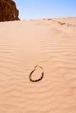 Grânulos beduínos na sobremesa amarela da duna de areia Imagem de Stock