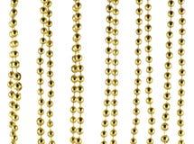 Grânulos comemorativos brilhantes da cor dourada Imagens de Stock Royalty Free
