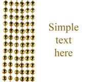 Grânulos comemorativos brilhantes da cor dourada Fotografia de Stock