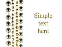 Grânulos comemorativos brilhantes da cor dourada Foto de Stock