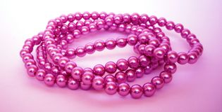 Grânulos cor-de-rosa Imagem de Stock Royalty Free