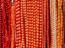 Grânulos coralinos feitos a mão Imagens de Stock Royalty Free