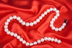Grânulos das pérolas Fotografia de Stock Royalty Free
