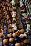 Grânulos de madeira Imagens de Stock