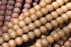Grânulos de madeira Foto de Stock Royalty Free