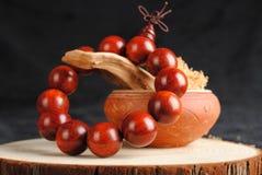 Grânulos de madeira Imagem de Stock