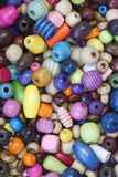 Grânulos de madeira coloridos Imagens de Stock Royalty Free