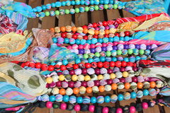 Grânulos de madeira coloridos Fotografia de Stock Royalty Free