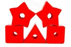 Grânulos de madeira do brinquedo Fotografia de Stock