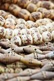 Grânulos de madeira modelados Fotos de Stock