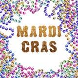 Grânulos de Mardi Gras Ilustração do vetor Fotografia de Stock Royalty Free
