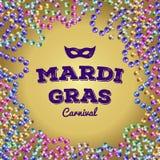Grânulos de Mardi Gras Ilustração do vetor Fotos de Stock Royalty Free