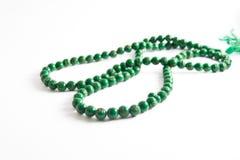 Grânulos de oração verdes Imagem de Stock