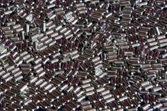 Grânulos de prata Fotos de Stock
