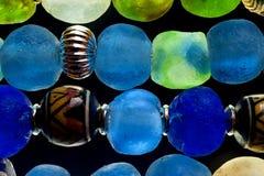 Grânulos de vidro Fotos de Stock Royalty Free