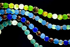 Grânulos de vidro Fotografia de Stock Royalty Free
