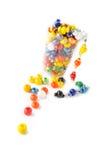 Grânulos de vidro coloridos fotografia de stock