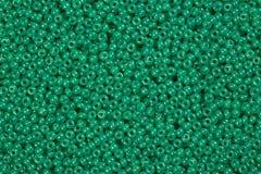 Grânulos de vidro verdes claros Foto de Stock Royalty Free