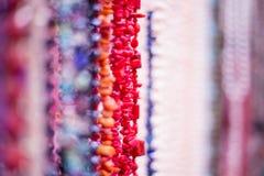 Grânulos do coral vermelho blured fotografia de stock royalty free