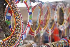 Grânulos do Masai fotos de stock royalty free