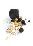 Grânulos e crochet foto de stock royalty free