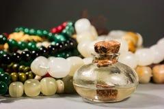 Grânulos e vidros Fotos de Stock Royalty Free