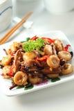 Grânulos fritados Stir do ábaco Fotografia de Stock