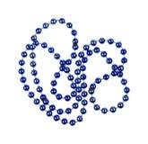 Grânulos metálicos azuis Imagens de Stock Royalty Free