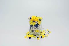 Grânulos plásticos Imagens de Stock