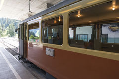 Grütschalp–Mürren mountain railway Stock Photos