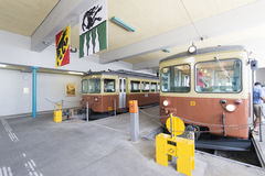 Grütschalp–Mürren mountain railway Royalty Free Stock Images