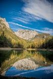 Grà ¼ ner Widzii Zielonego jezioro Obrazy Royalty Free
