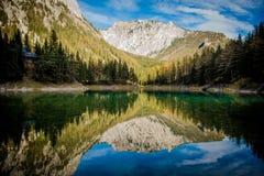 Grà ¼ ner Widzii Zielonego jezioro Fotografia Stock
