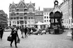 GrÃ¥brødre Torv en Copenhague Imágenes de archivo libres de regalías