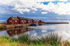 GräsgÃ¥rds钓鱼海港,奥兰,瑞典 库存图片