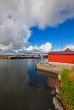 GräsgÃ¥rds钓鱼海港,奥兰,瑞典 库存照片