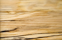 A grão da madeira de vidoeiro com obscuridade lista o Close-up Fotos de Stock Royalty Free