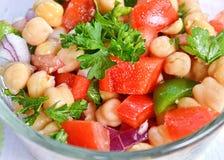 Grão-de-bico Bean Salad Fotografia de Stock