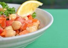 Grão-de-bico Bean Salad Fotos de Stock Royalty Free