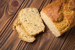 Grão-de-bico caseiro e pão da grão Foto de Stock Royalty Free