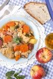 Grão-de-bico com refeição da galinha Imagem de Stock